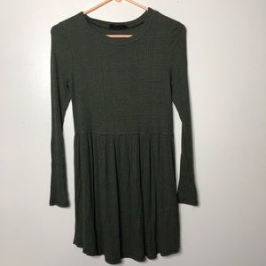 Audrey 3+1 green tunic dress green Black S